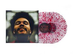 The Weeknd Andlrmafter Hours Limited Edition Clear W/ Red Splatter 2 X Vinyl Record