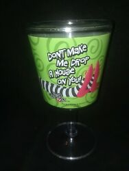 Wizard Of Oz Wicked Witch Wine Glass Acrylic Goblet Cup Drop House On Your Legs