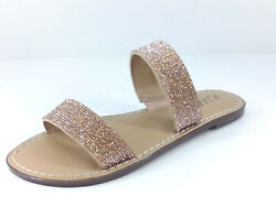 Wild Pair Womens Slides 66t3n Gold Size 8.5