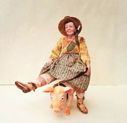 Dollhouse Miniature Old Farm Gal Marcia Backstrom 1/12th