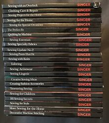 Lot Of 23 Singer Sewing Reference Library Hardback Books With One Pb Index