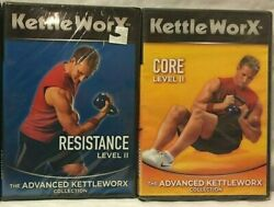 New 2 Kettleworx Workout Exercise Dvd Lot Level Ii 2 Resistance Core Abs Fitness
