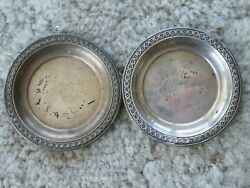 2-rogers Sterling Silver 4001 Butter Pat Nut Dish Bowl 3 1/8 - 1.4oz Free Ship