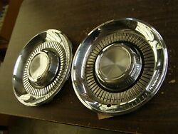 Nos Oem Ford 1959 Lincoln Wheel Covers 2 Hub Caps Premiere Continental