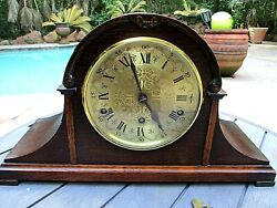 Vintage Clarion Tambour Mantle Clock Westminster Chime