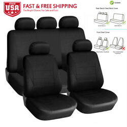 Auto Car Seat Covers For Car Truck Suv Van Universal Protectors Polyester Black