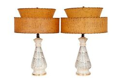 Mid Century Atomic Table Lamps - A Pair