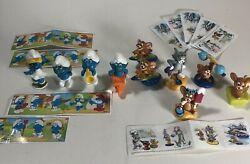 Huge Lot Of Kinder Egg Surprise Toys From The 1980's To Now Smurfs Tom And Jerry O