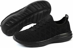 Joomra Womenand039s Shoes 85 Fabric Low Top Lace Up Running All Black Size 5.0 Rkx1