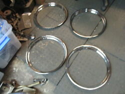 1939 Packard 120 Set Of 4 Trim Rings Nice Condition