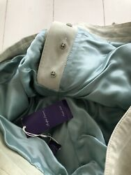 Very Rare Men's Suede Purple Label 36x36 Mint Green Button Fly