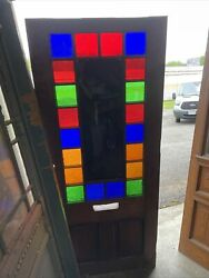 Bova 52 Antique Queen And Stained Glass Door 33.75 X 80 X 1.7