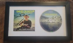 David Gilmour Signed Framed Yes I Have Ghosts Cd Cover Pink Floyd The Wall