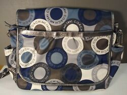 Coach Snaphead Blue Multicolor Diaper Bag Coach Messenger Diaper Bag $85.00