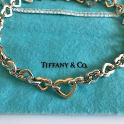 And Co. Yellow Gold Choker Silver Heart Link Pendant Necklace M67625762813