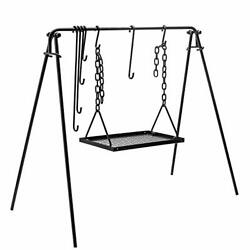 Bruntmor Grill Swing Campfire Cooking Stand Bbq Grill For Cookware And Dutch Oven