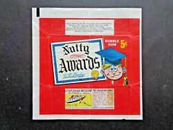1964 Topps Nutty Awards Wax Wrapper Rare