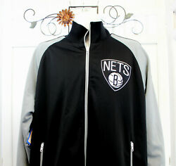 Mitchell And Ness Mens Backboard Track Jacket Nba Brooklyn Nets Embroidered 2xl