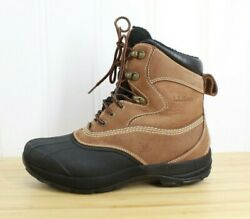Ll Bean Menand039s Storm Chaser 8 High Duck Boots Black Tan Leather Lace-up Size 8 M