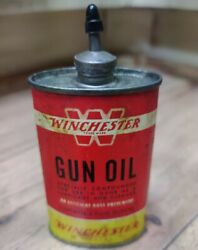 Vintage Winchester Gun Oil 3 Ounce Can Lead Top