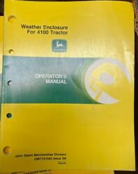 John Deere Weather Enclosure For 4100 Tractor Operator Manual Omty17502 I-2