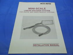 Acu-rite Mini-scale Linear Encoder System Installation And Troubleshooting Manual