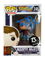 Back To The Future Funko Pop 245 Signed By Michael J Fox 100 Authentic + Coa