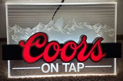 Coors Lighted Beer Sign [18 X 11.5 X 4]