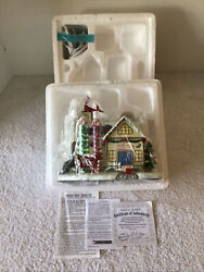 Hawthorne Village 2004 Rudolph's Christmas Town Gift Wrapping Station Coa New