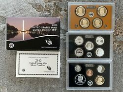 2013-s Us Mint Silver Proof Set - 14 Coin Set W/ Ogp Box And Coa