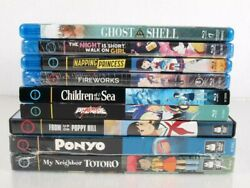 Gkids Anime Movies Lot Of 9 Blu-ray And Dvd New And Used Ponyo Totoro Fireworks
