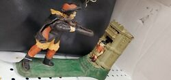 Cast Iron William Tell Mechanical Bank Antique Americana Toy