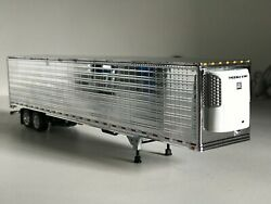 All Chrome Tandem Axle Dcp 1/64 53and039 Utility Trailer W/ Thermoking Reefer