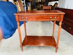Beautiful Vintage Bombay Company Regency Cherry Entry Console Table W/ Drawer