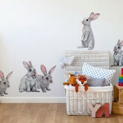Wall Stickers Removable Decals Art Kids Rooms Rabbits Christmas Home Decoration