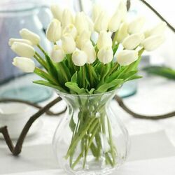 Flowers 31pcs Artificial Real Touch Wedding Home Tulip Party Bouquet Decoration