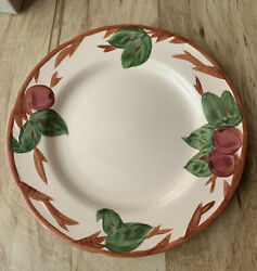 Set Of 8 Franciscan Apple Pattern Dinner Plates England Discontinued