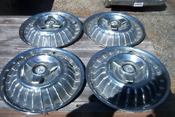 Oe Vintage Set Of 4 Unrestored 67 Mercury 15 Inch 3 Bar Spinner Wheelcovers