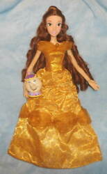 Disney Store Beauty And The Beast Princess Belle Singing 16 17 Doll And Mrs Potts