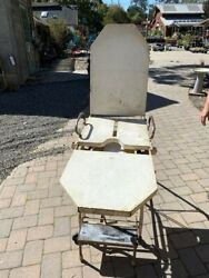 Antique Iron Medical Exam Or Operation Chair