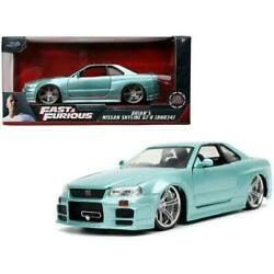 Jada Toys Fast And Furious Brianand039s Nissan Skyline Gt-r [bnr34] Item 32608 124
