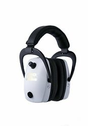 New Proears Slim Gold Hearing Protection And Amplification Ear Muffs White