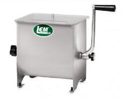 New Lem Products 1734 Stainless Steel 50lb 14 X 11 X 14 Meat Mixer