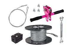 New Ziplinegear 75and039 Hornet Zip Line Kit Of 1/4 Cable With Steel Trolley