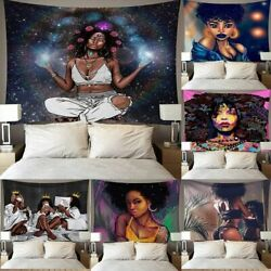 Wall Tapestry African Woman Background Cloth Home Decoration Mural Hanging Home