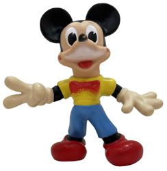 1960s Vintage Walt Disney Mickey Mouse 10 Squeak Rubber Toy Ledra Made In Italy