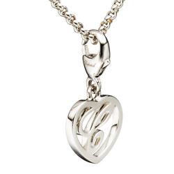 Chopard Logo C Heart White Gold And Diamond Pendant Necklace 79/7490 New
