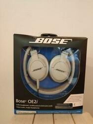 New Sealed Bose Oe2i Audio Headphones Remote And Microphone White