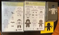 Stampin Up Cookie-cutter Christmas And Halloween Stamps W/cookie Cutter Punch