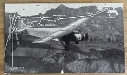 Airline - 1930and039s Maddox Ford Tri Motor Airline Issued Postcard